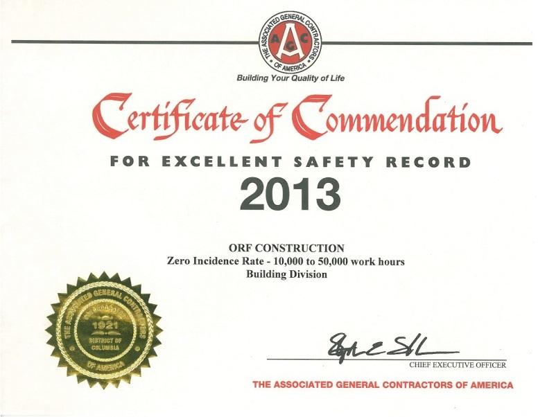 AGC 2013 Safety Award