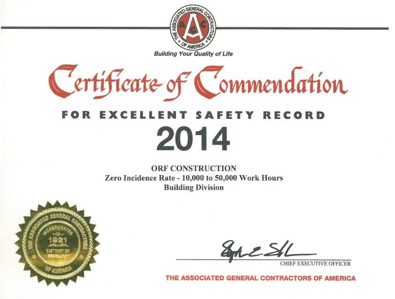 AGC 2014 Safety Award
