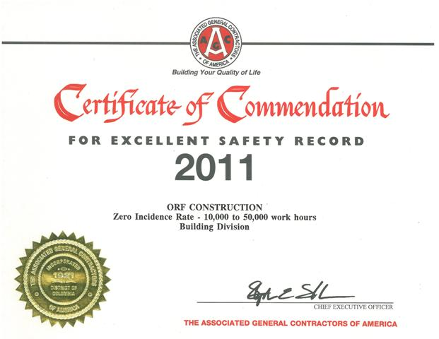 2011 AGC Safety Award