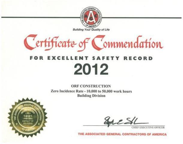 2012 AGC Safety Award